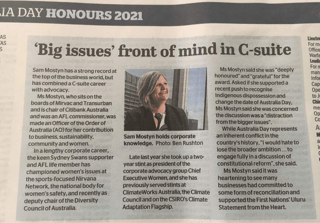 The Age article, 26 Jan 2021